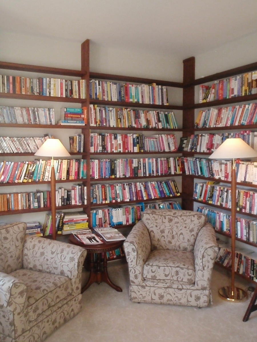 Library at our Melksham training centre and hotel