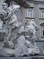 Marble statue outside town hall