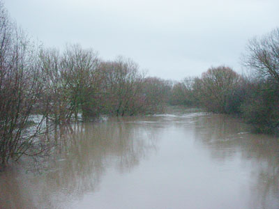 The course of the river Avon in Melksham