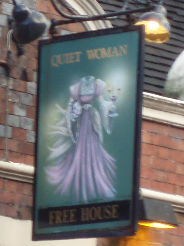 The Quiet Woman pub in Leek