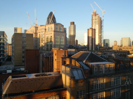 London from Aldgate Hotel