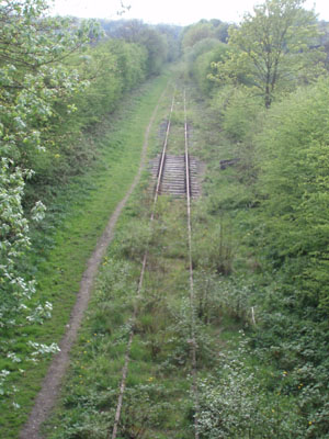 Railway line to Leek - out of use