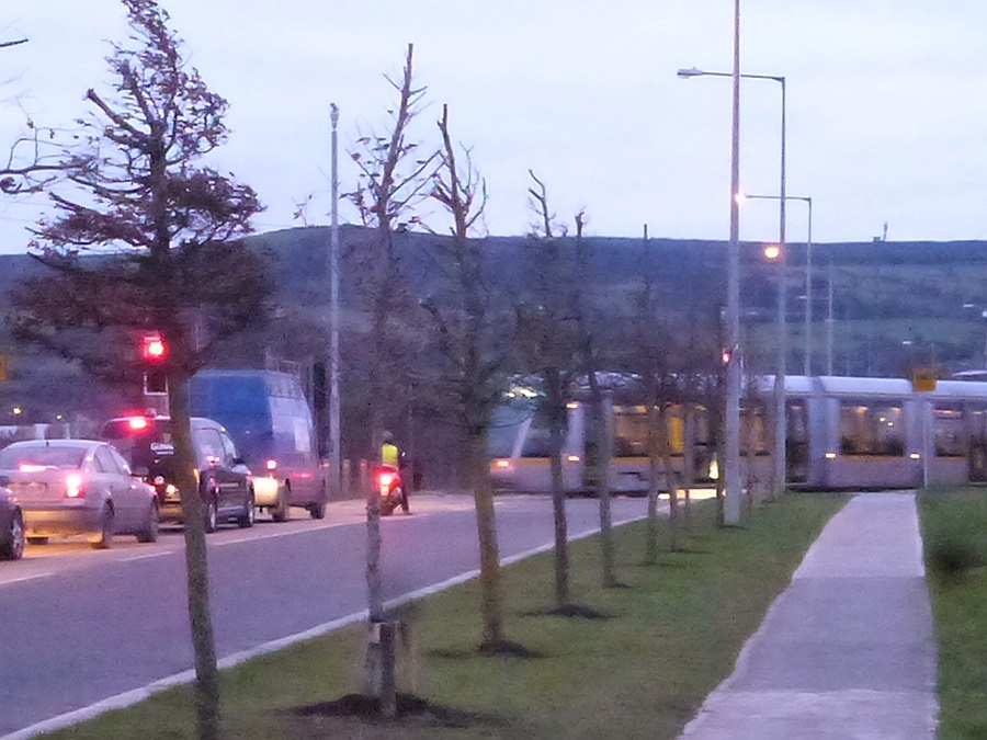 Luas Crosses Road