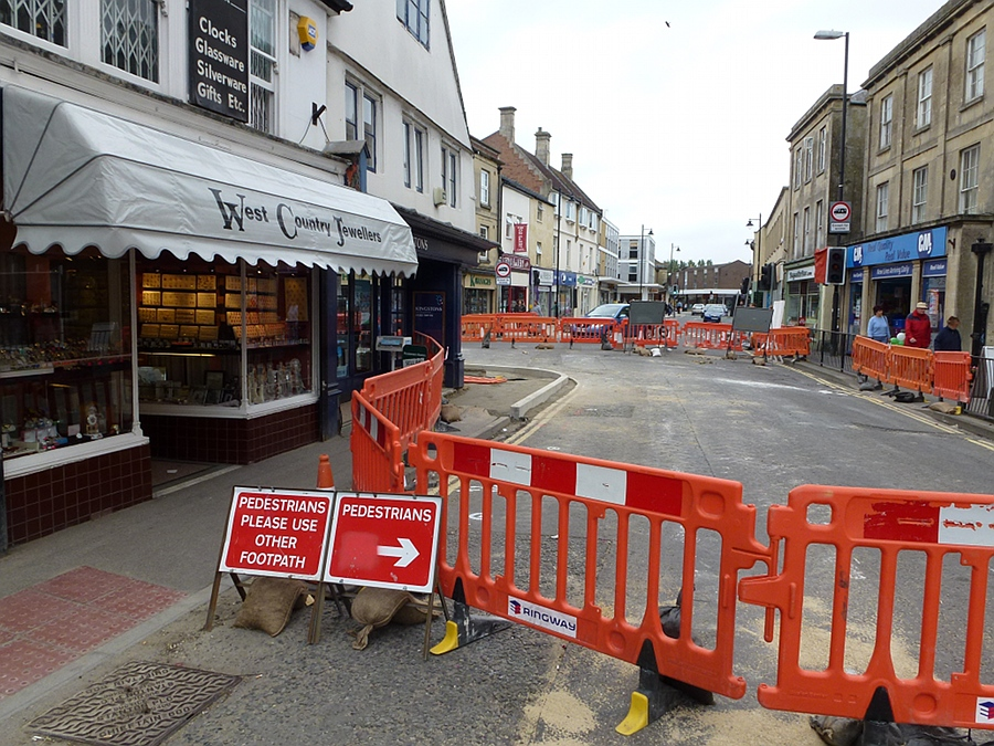 Road Works in the High Street - May