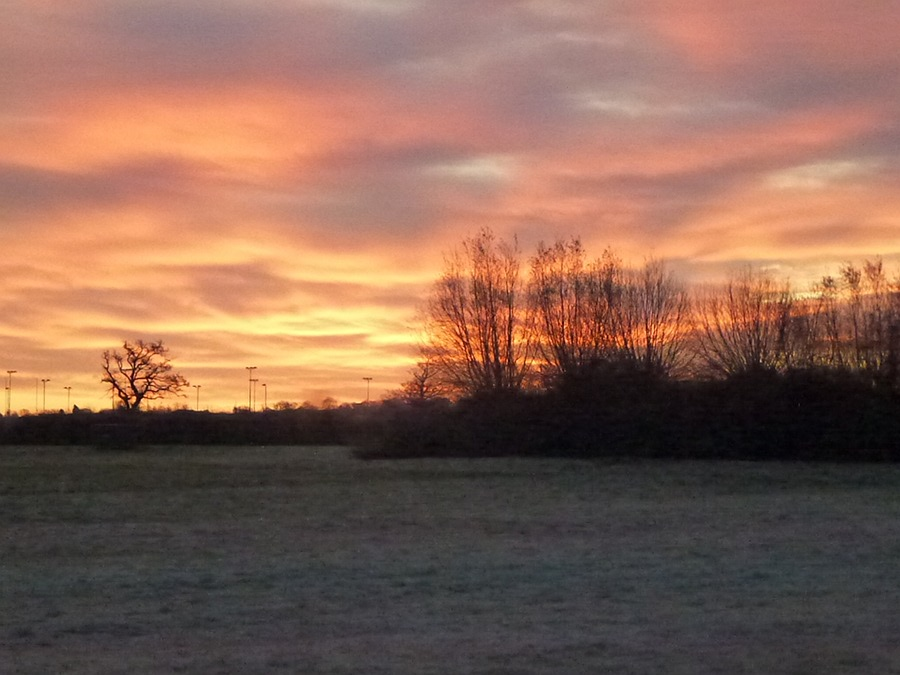 Sunrise over Melksham