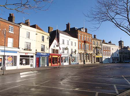 Devizes Market Square on Christmas Day