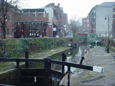 The Rochdale canal in Manchester