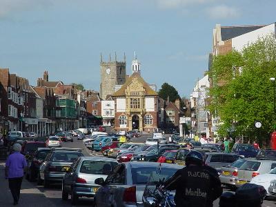 Marlborough's wide High Street