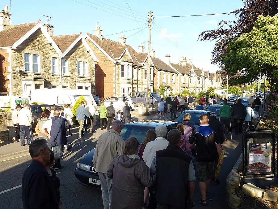 Crowds go home after Melksham Carnival