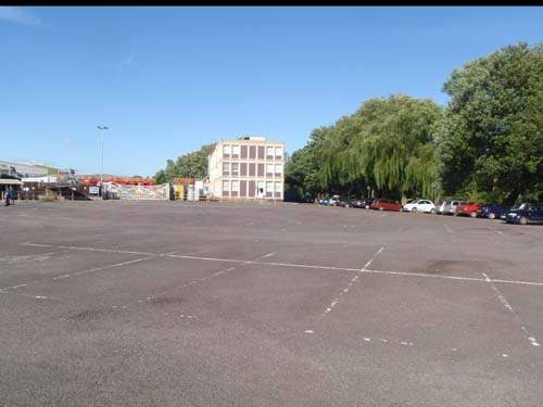 Car Park empty as the floats have left
