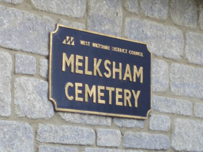 The Cemetery sign