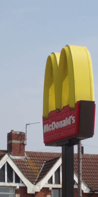 McDonalds sign - Melksham