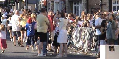 Crowds in Melksham
