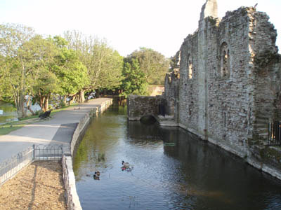 Castle and mill leat, Christchurch