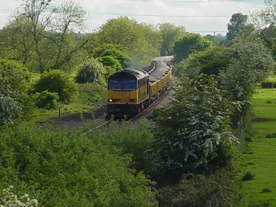 Works train approaches Melksham