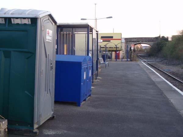 Temporary Toilet at Melksham Station