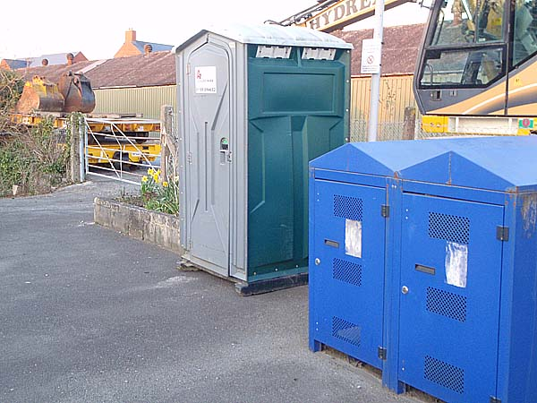 Arrived on 1st April - Melksham Station Toilet