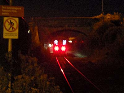 Tail lights at Melksham