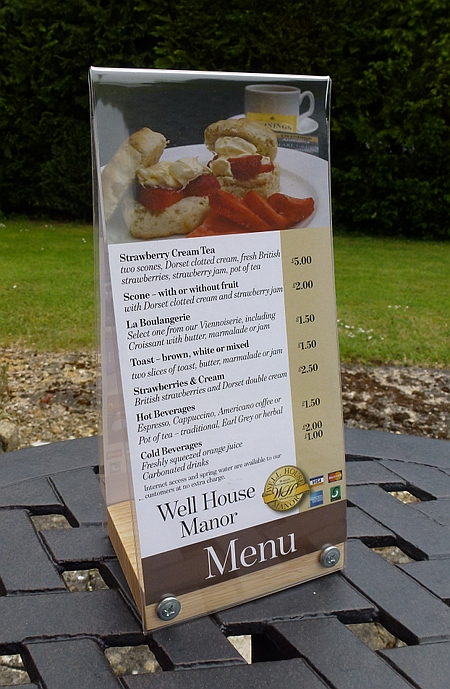 Cafe Menu - Well House Manor