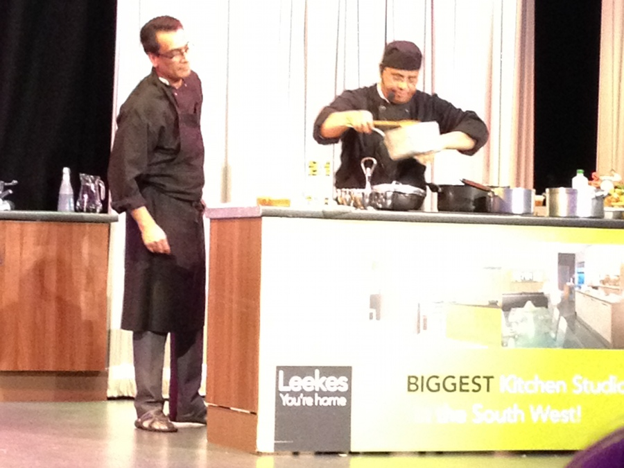 Melksham Food Festival - demonstration in Assembly Hall