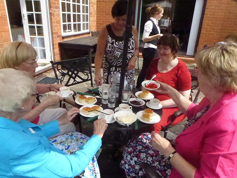 Cream Tea in the Garden at Well House Manor