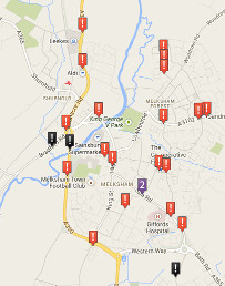 Map of road accidents in Melksham