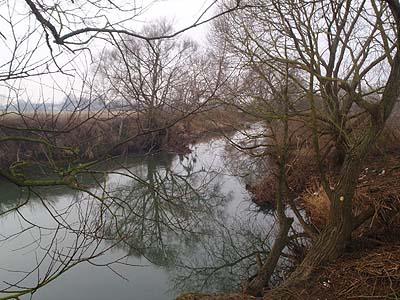 Melksham Flood plain - the meandering Avon
