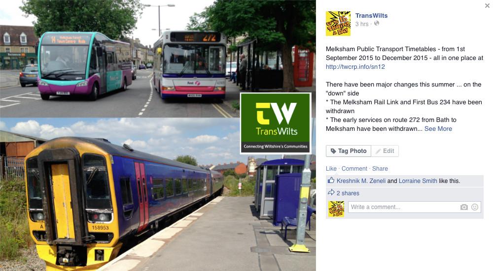 Melksham buses and trains