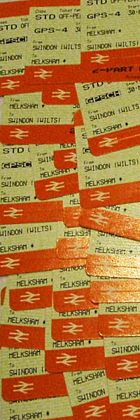 Lots of train tickets