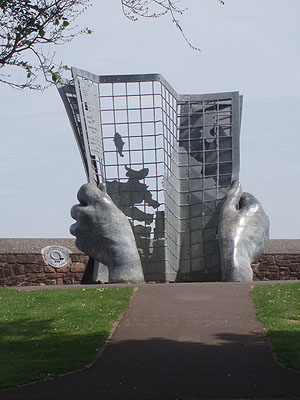 Sculpture on Minehead seafront