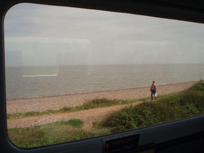 The sea from the train - near Blue Anchor