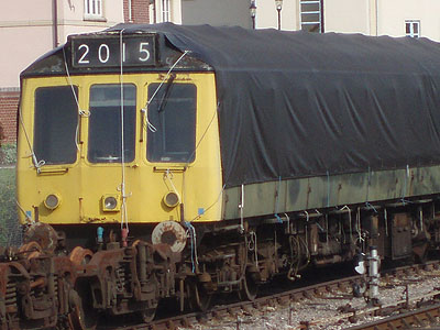 Wrapped up train at Minehead