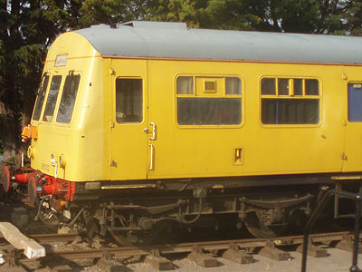Yellow train at Dunster