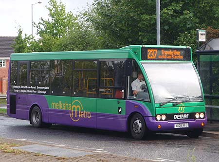 237 bus - Melksham to Trowbridge via Holt