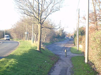 There is concern that school access will be via this single path or a main road with no footway