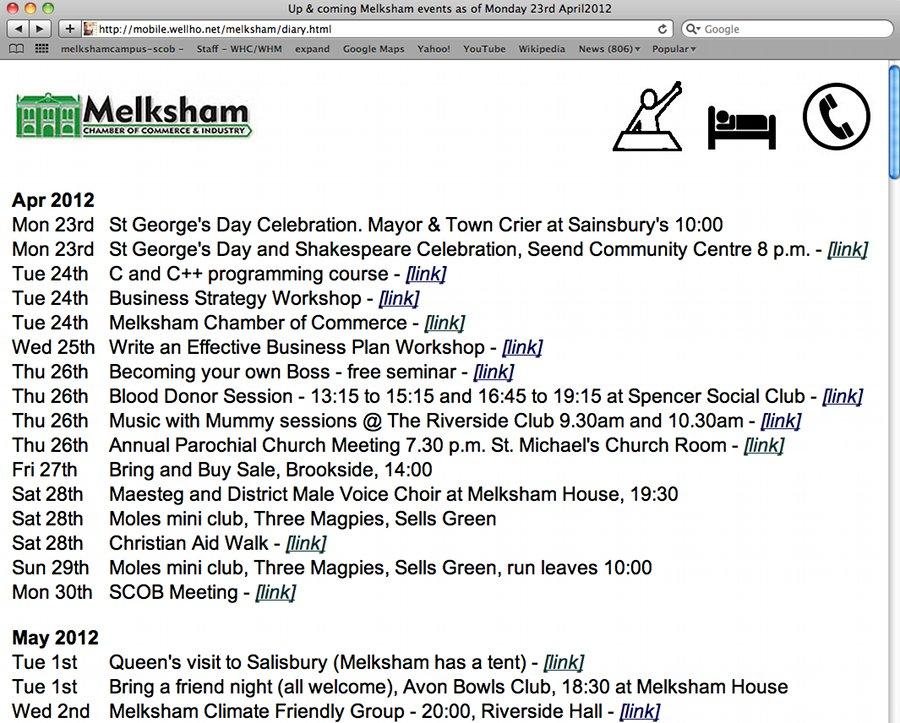 Melksham Diary