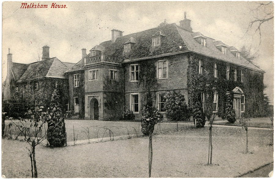 Melksham House - old postcard