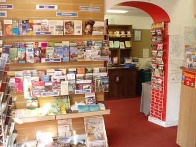 Inside Melksham Tourist Information Centre
