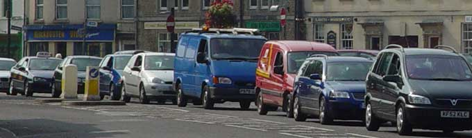 Traffic jam in Melksham - our future?