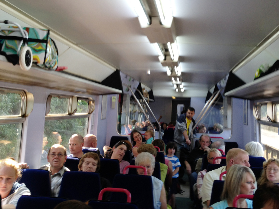 Crowds want to go from Swindon to Weymouth