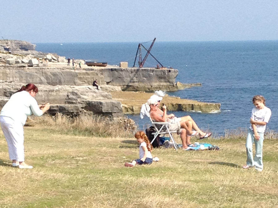 Relaxing on the Cliff tops at Portland Bill