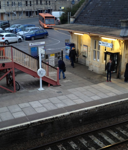 Bradford-on-Avon Station, with the local bus