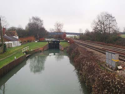 The Canal Lock at Little Bedwyn