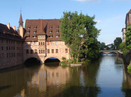 The river in Nuremburg