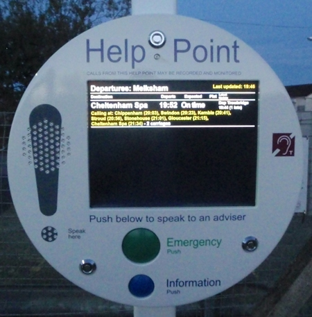New information point at Melksham station