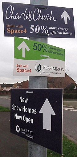 New Home signs in Melksham