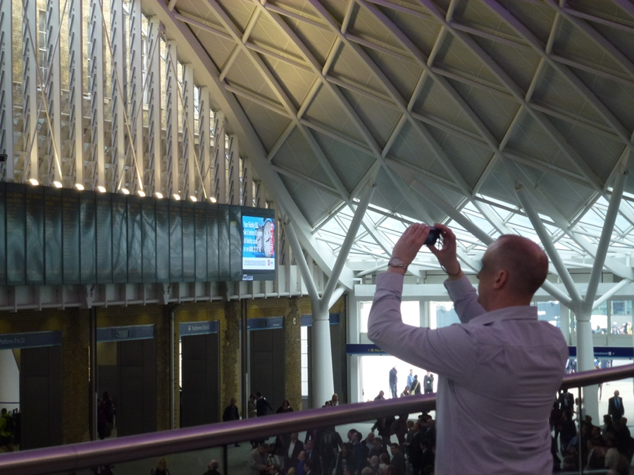 Photographing Kings Cross Station