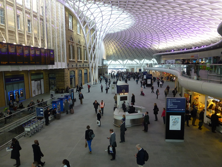 View over new departures hall at Kings Cross