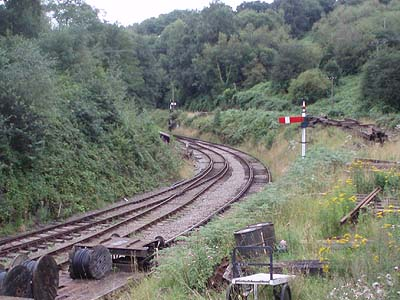 Track on the Forest of Dean railway at Norchard