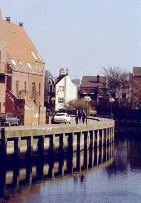 Norwich - A quayside on the river Wensum